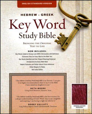 ESV-Hebrew-Greek Key Word Study Bible, bonded leather, burgundy  -     Edited By: Dr. Spiros Zodhiates, Dr. Warren Patrick Baker D.R.E.