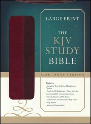 KJV Study Bible, Large Print, Leather, imitation