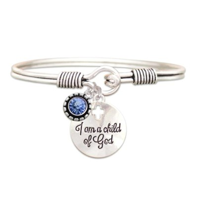 Child Of God Bracelet, Aquamarine, March  -