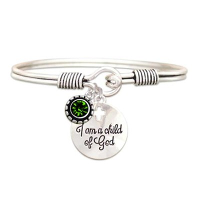 Child Of God Bracelet, Emerald, May  -