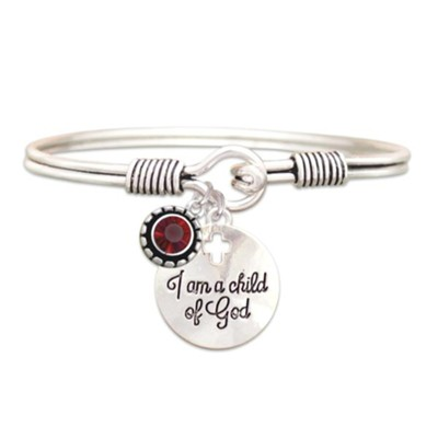 Child Of God Bracelet, Ruby, July  -