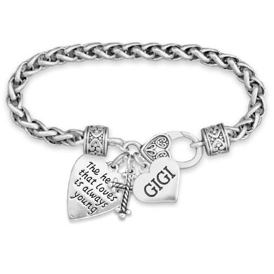 Gigi, The Heart That Loves Is Always Young Bracelet  -