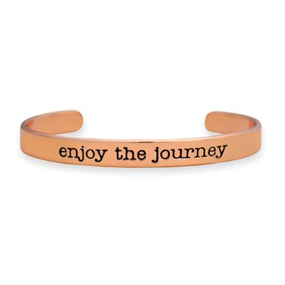 Enjoy the Journey Cuff Bracelet, Rose  -