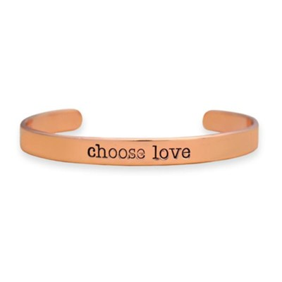 Choose Love Cuff Bracelet, Rose   -