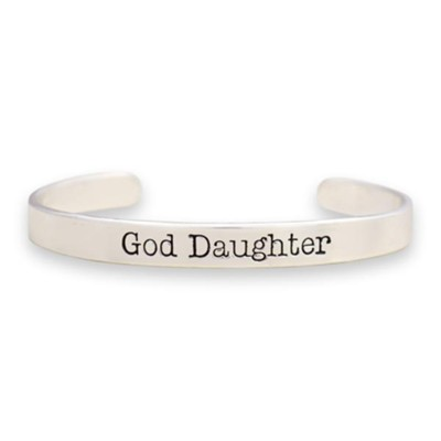 God Daughter Cuff Bracelet, Silver  -