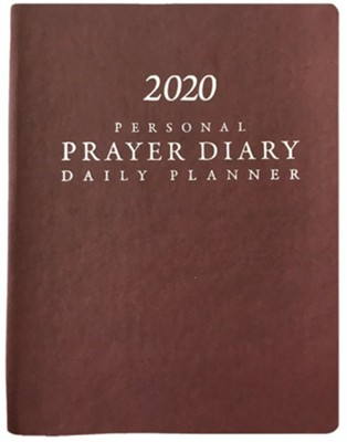 2020 Prayer Diary - Burgundy - (Matte/Smooth Finish)  -     Edited By: Warren Walsh