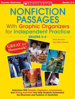 Nonfiction Passages With Graphic Organizers for Independent Practice: Grades 2-4  -     By: Alice Boynton, Wiley Blevins
