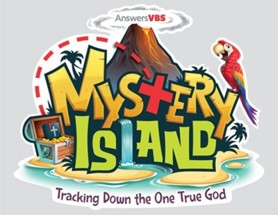 Mystery Island: Student Iron-On Logo (pkg. of 10)  -