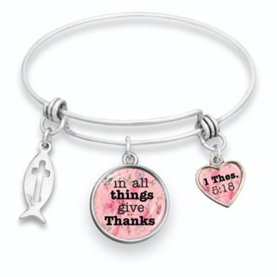 In All Things Give Thanks Bangle Bracelet  -