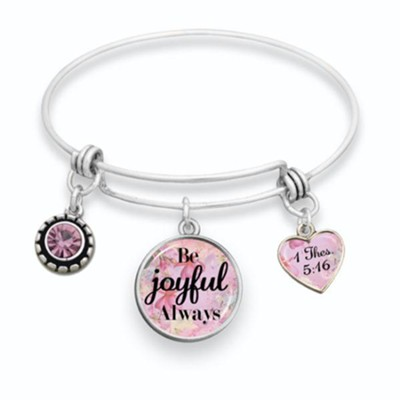 Be Joyful Always Bangle Bracelet  -