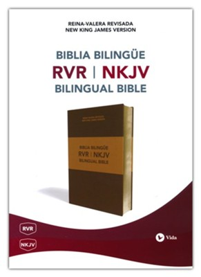 Biblia Bilingüe RVR-NKJV, Piel Imit., Marrón  (RVR-NKJV Bilingual Bible, Imit. Leather, Brown)  -     By: Reina Valera Revisada