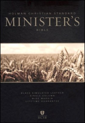 HCSB Minister's Bible, Black Imitation Leather  -