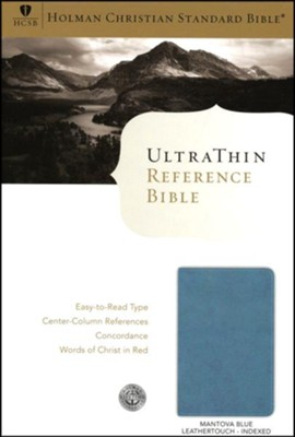 HCSB UltraThin Reference Bible, Blue Mantova imitation leather, indexed  -