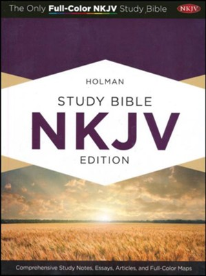 NKJV Holman Study Bible, Mahogany LeatherTouch, Thumb-Indexed  -