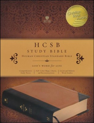 HCSB Study Bible, Black & Brown LeatherTouch  -