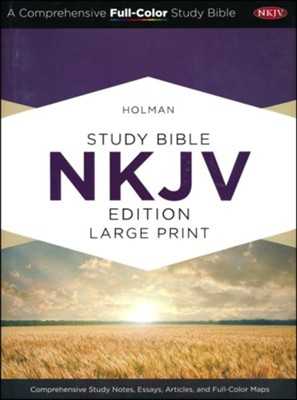 Holman Study Bible: NKJV Large Print Edition, Saddle Brown LeatherTouch  -