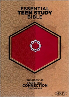 NKJV Essential Teen Study Bible, Rose LeatherTouch  -