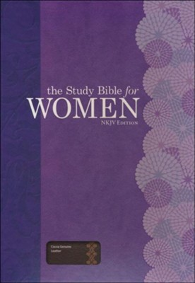 The Study Bible for Women, NKJV Edition, Cocoa Genuine Leather  -     Edited By: Dorothy Kelley Patterson, Rhonda Harrington Kelley
