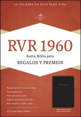 Biblia para Regalos y Premios RVR 1960, Piel Imit. Negro  (RVR 1960 Gift & Award Bible, Black Imitation Leather)  -