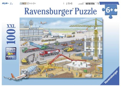 Construction at the Airport Puzzle, 100 Pieces  -