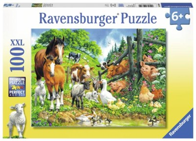 Animals Get Together Puzzle, 100 Pieces  -