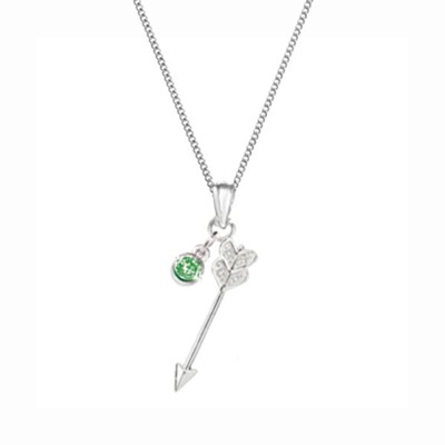 Arrow Bottled Necklace with Green Accent Stone  -     By: Embrace your message