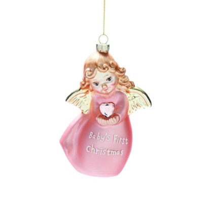Baby's 1st, Angel Ornament, Pink  -
