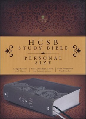 HCSB Personal Size Study Bible, Smoke and Slate LeatherTouch, Thumb-Indexed  -