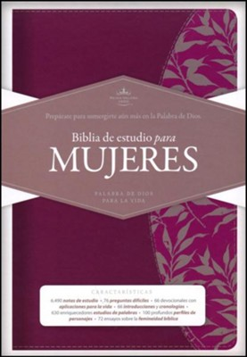 Biblia de Estudio para Mujeres RVR 1960, Simil Piel Vino, Ind.  (RVR 1960 Study Bible for Women, Burgundy LeatherTouch, Ind.)  -     Edited By: Dorothy Kelley Patterson, Rhonda Harrington Kelley