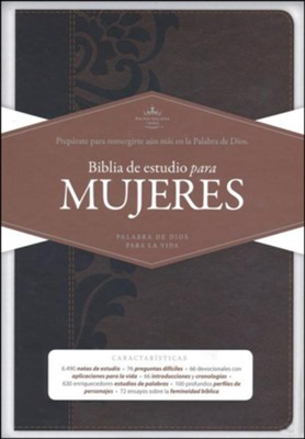 Biblia de estudio para mujeres RVR 1960, simil piel cafe (Study Bible for Women, Brown LeatherTouch)  -     By: Dorothy Kelley Patterson