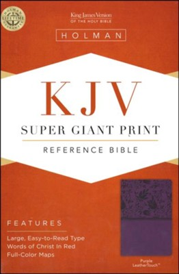 KJV Super Giant Print Reference Bible, Purple LeatherTouch  -