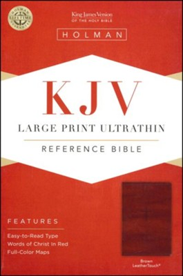 KJV Large Print UltraThin Reference Bible, Brown Imitation Leather  -