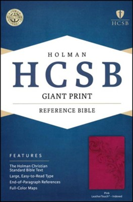 HCSB Giant Print Reference Bible, Pink LeatherTouch, Thumb-Indexed  -