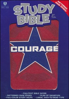 HCSB Study Bible for Kids, Courage LeatherTouch  -