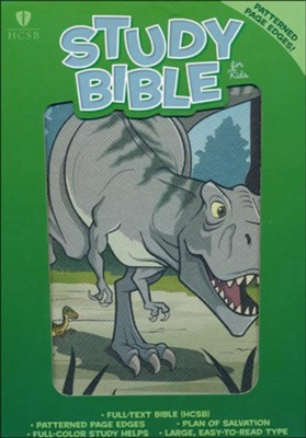 HCSB Study Bible for Kids, Dinosaur LeatherTouch  -