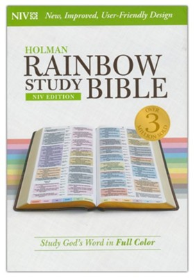 NIV Rainbow Study Bible, Hardcover  -