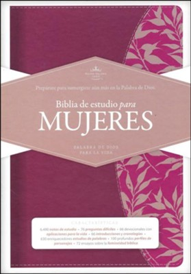 Biblia de estudio para mujeres RVR 1960, simil piel vino (Study Bible for Women, Burgundy LeatherTouch)    -     Edited By: Dorothy Kelley Patterson, Rhonda Harrington Kelley