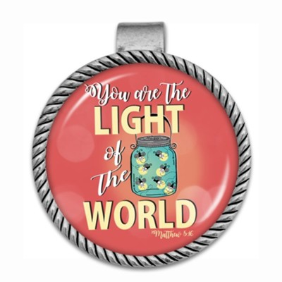 You Are the Light of the World Visor Clip  -     By: Car Encouragement