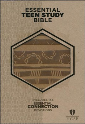 HCSB Personal Size Essential Teen Study Bible, Aztec LeatherTouch  -