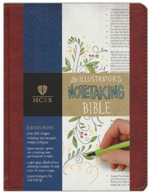 HCSB Illustrator's Notetaking Bible--soft  leather-look, British tan  -