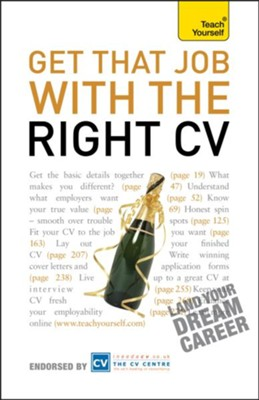 Get That Job With The Right CV: Teach Yourself / Digital original - eBook  -
