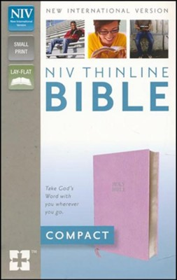 NIV Thinline Bible, Compact, Imitation Leather; Pink                    -