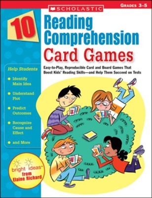 10 Reading Comprehension Card Games  -     By: Elaine Richard