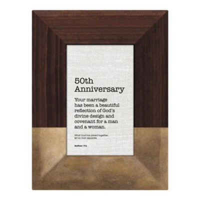 50th Anniversary, Matthew 19:6 Framed Art  -