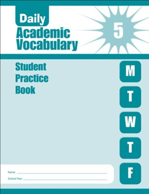 Daily Academic Vocabulary, Grade 5 Student Workbook   -