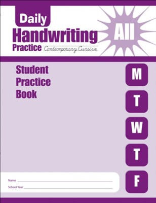 Daily Handwriting Practice: Contemporary Cursive Student Workbook  -