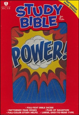 HCSB Study Bible for Kids, Power LeatherTouch  -