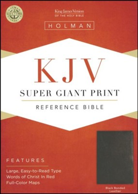 KJV Super Giant Print Reference Bible, Bonded leather, black  -