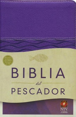 Biblia del Pescador NTV, Simil Piel, Violeta Perlado  (NTV Fishers of Men Bible, Metallic Purple Leathertouch)  -