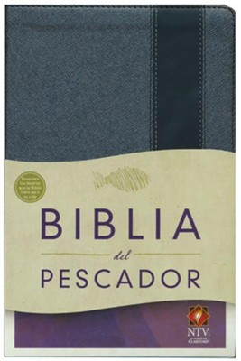 NTV Biblia del Pescador, gris met&#225lico s&#237mil piel (Fisher of Men Bible, Gunmetal Gray LeatherTouch)   -